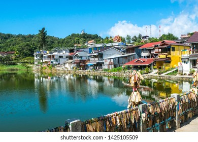 Kanchanaburi, Thailand - December 13, 2017: View of The beautiful E-Thong village, Pilok,Thong Pha Phum National Park, Kanchanaburi province, Thailand.