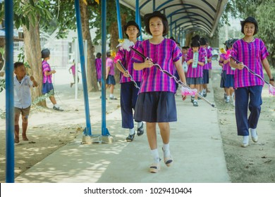 KANCHANABURI THAILAND - FEBRUARY 20 : Unidentified students