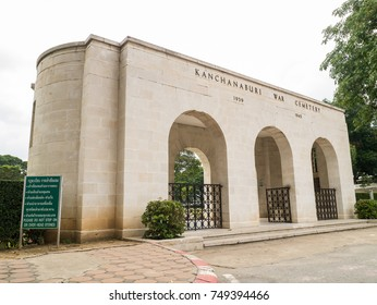 KANCHANABURI, THAILAND- OCTOBER 13, 2017: Kanchanaburi War Cemetery is the main prisoner of war cemetery for victims of Japanese and contains the remains of 6,982 Allied prisoners during world war two