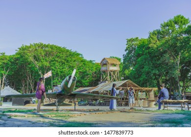 KANCHANABURI THAILAND-JULY 16,2019 : Unidentified tourists come to visit and take pictures at  World War ll Bridge Project near The Bridge on the River Kwai in Kanchanaburi Thailand.