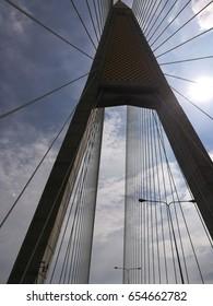 Kanchanaphisek Bridge.cable stayed bridge.Thailand.