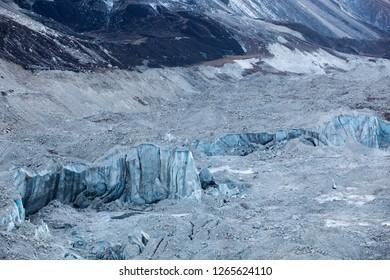 Kanchenjunga glacier close up.