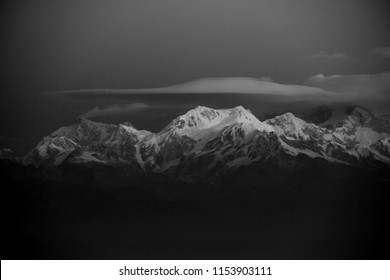Kanchenjunga, Himalayas, Sikkim, India, 3rd Highest Peak in the World, Also Partly in Nepal, Sunrise from Tiger Hill,
