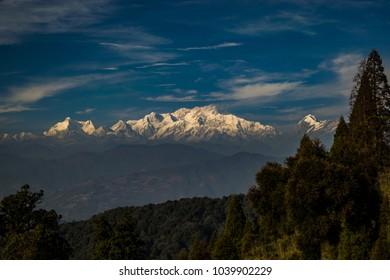 Kanchenjunga Mountain Range From Sandakphu during Sandakphu Trekking