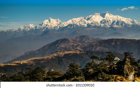 Kanchenjunga  Mountain Range from Sandakphu Top, Kanchenjunga Peak during Sandakphu Trekking