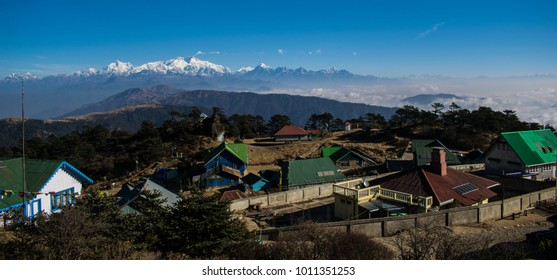 Kanchenjunga Mountain Range from Sandaphu Top, Himalayan Mountain Kanchenjunga
