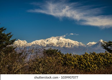 Kanchenjunga Peak from Sandakphu, View of Kanchenjunga Range During Sandakphu Trekking
