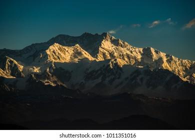 Kanchenjunga Peak, Snow Peak, Kanchenjunga view from Sandakphu during Sandakphu Trek