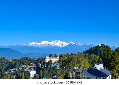 Kanchenjunga view from Darjeeling, India
