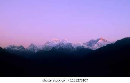 Kanchenjunga view from Pelling at Day
