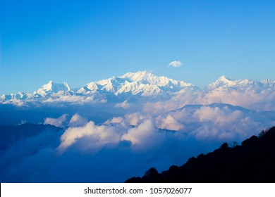Kanchenjunga view from Sandakphu in Darjeeling, India.