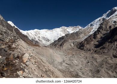Kanchenjunga and Yalung glacier in Nepal.