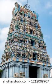 Kanchipuram, India - Circa January, 2018. View of Kumarakottam Temple in Kanchipuram.