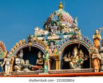 Kanchipuram, India - Circa January, 2018. View of Ramanatha Eswarar in Kanchipuram.