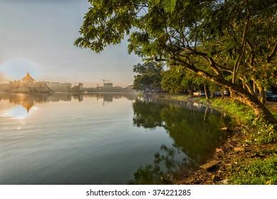 Kandawdyi Lake, Yangon, Myanmar