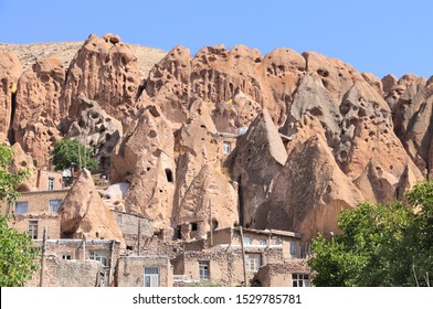 Kandovan - ancient Iranian cave village in the rocks (Candovan),  East Azerbaijan Province, Iran. UNESCO world heritage site