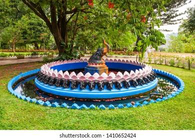 KANDY, SRI LANKA - FEBRUARY 20, 2017: Kandy Royal Palace Park is located in Kandy City, Sri Lanka. Royal Palace Park is a public park in the center of Kandy.