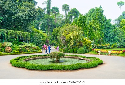 KANDY, SRI LANKA - NOVEMBER 28, 2016: Royal Botanical Garden is a must see place in Kandy, and a very popular among tourists,  on November 28 in Kandy.