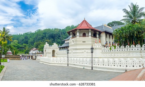 KANDY, SRI LANKA - NOVEMBER 28, 2016: Temple of Sacred Relic Tooth is the main landmark of the city, on November 28 in Kandy.