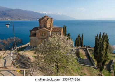 Kaneo, Ohrid, Macedonia - St John church,  Lake Ohrid