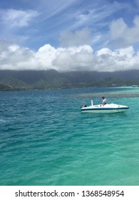 Kaneohe Bay, Hawaii - April 4 2015: Taken during a day of water activities