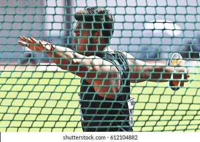 KANGAR 01 JUN 2014 - Athletes competing in the Discus event at the Stadium Tuanku Syed Putra Sports Complex State Kangar, Perlis Championships at the Malaysia Games (Sukma) XVII 2014.