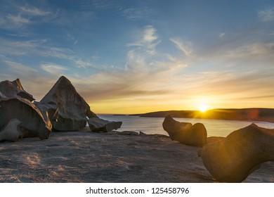 Kangaroo Island remarkable rocks at sunset