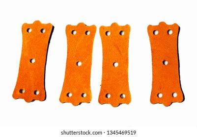 Kangaroo leather catapult slingshot pouch, strong stable leather. Sniper design. Make your own high end catapult slingshot bands