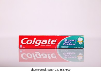 Kangar,Perlis,Malaysia, 11 August 2019:Colgate Toothpaste, Advanced Sensation White, isolated on white. Colgate is a brand of toothpaste produced by Colgate