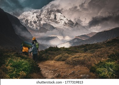 Kangchenjunga, Hiking into the mountain, Goechala Trek in Sikkim, Travel Inspiration, Motivational Image, Trekking in India