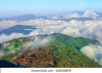 Kangchenjunga mountain range. view from Tiger Hill, Darjeeling, west bengal, India.