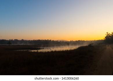 Kanha meadows Mukki zone sunrise