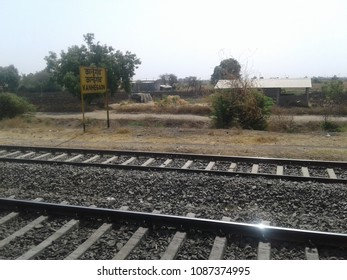 Kanhegaon station railway tracks India near Shirdi