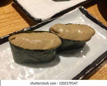 Kani miso sushi