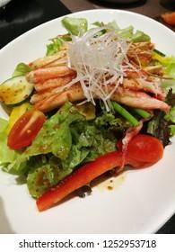 kani salad with Japanese dressing
