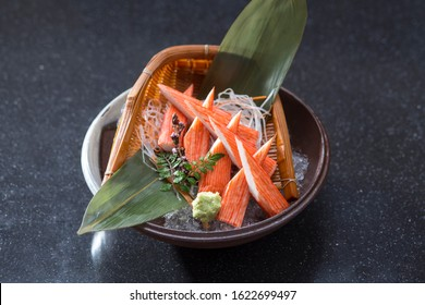 Kani sashimi or crab the Japanese food cuisine