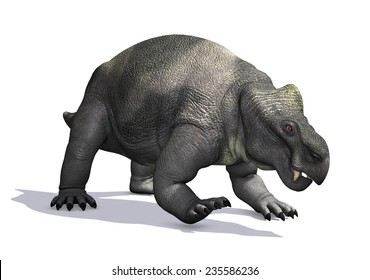 The Kannemeyeria was a prehistoric reptile that lived during the Triassic Period - 3D render.