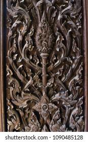 Kanok wooden texture background