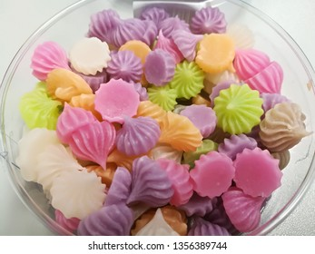 Kanom Aluar. colorful thai sweet and snack