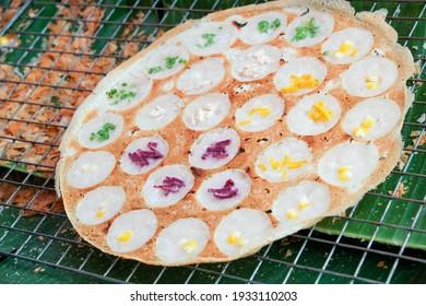 Kanom Krok : Thai sweetmeat, Thai traditional dessert. made from coconut milk mix with powder fried dessert. - Shutterstock ID 1933110203