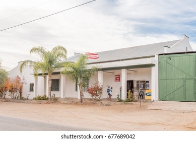 KANONEILAND, SOUTH AFRICA - JUNE 12, 2017: A supermarket in Kanoneiland, a village on an island in the Orange River near Upington in the Northern Cape Province