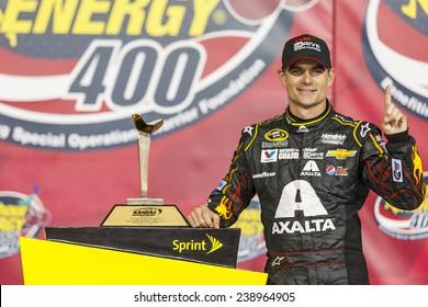 "Kansas City, KS - May 10, 2014:  Jeff Gordon (24) wins the ""5-hour Energy 400 Benefiting Special Operations Warrior Foundation"" at Kansas Speedway in Kansas City, KS."