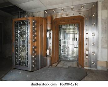 Kansas City, Missouri - 07 11 2020: Abandoned Bank Vault