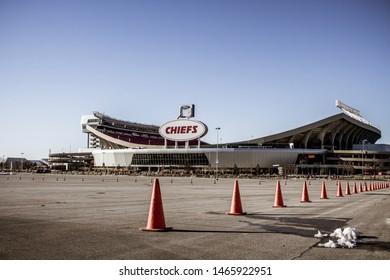 Kansas City, Missouri - January 1 2016: Arrowhead stadium for the Kansas City Chiefs NFL team.