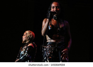 Kansas City, Missouri – November 17, 2018:  R & B group TLC performs at the Star Pavillion at the Ameristar Casino in Kansas City, Missouri.