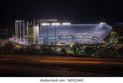 Kansas City, Missouri - October 28, 2015: Game Two of the World Series at Kauffman Stadium