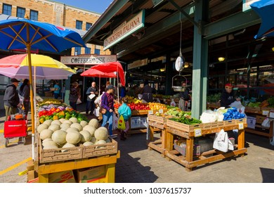 KANSAS CITY MISSOURI, UNITED STATES OF AMERICA - March 2018: The  Farmers Market. The Market is a Major Tourist Attraction