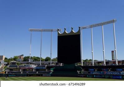 Kansas city, Missouri United States- 6/26/2017 Kauffman stadium jumbotron