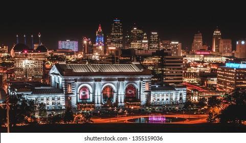 Kansas City, Missouri/United States - September 18 2018:Union Station Long Exposure