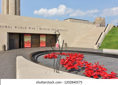 KANSAS CITY, MO -17 AUG 2018- View of the National World War I Museum and Memorial of the United States located in Kansas City, Missouri.